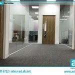 Image of frameless glass partitions