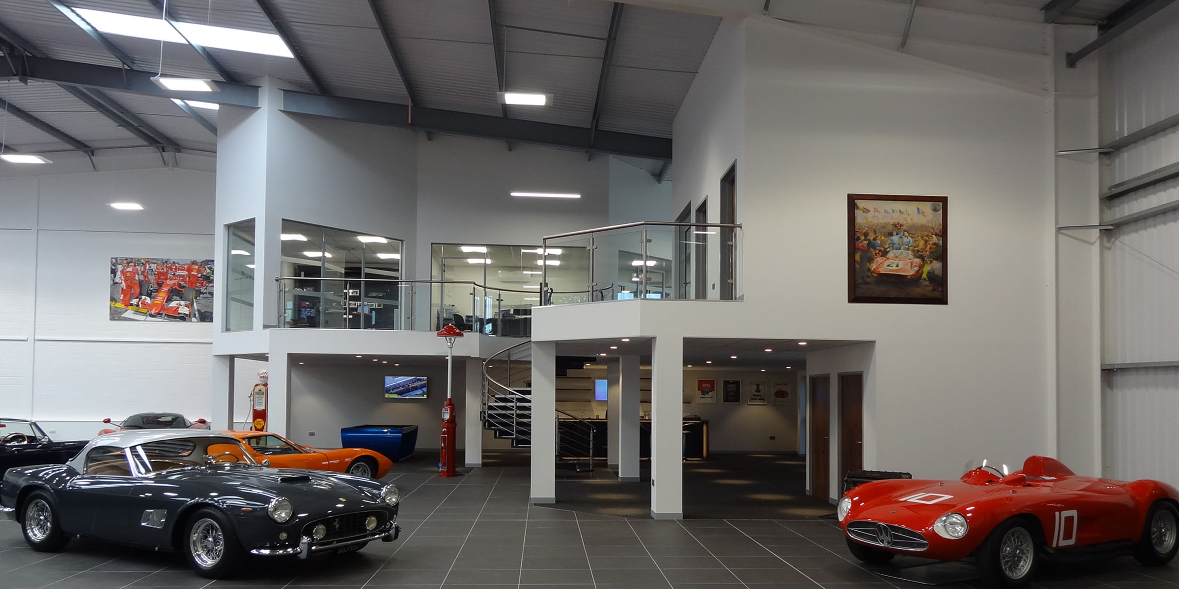 Office Mezzanine Floor for Supercar Dealer