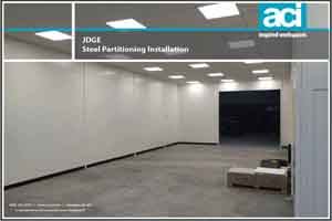 Large Steel Partitioning Installation to Split Warehouse Space