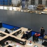 steel partitioning installation