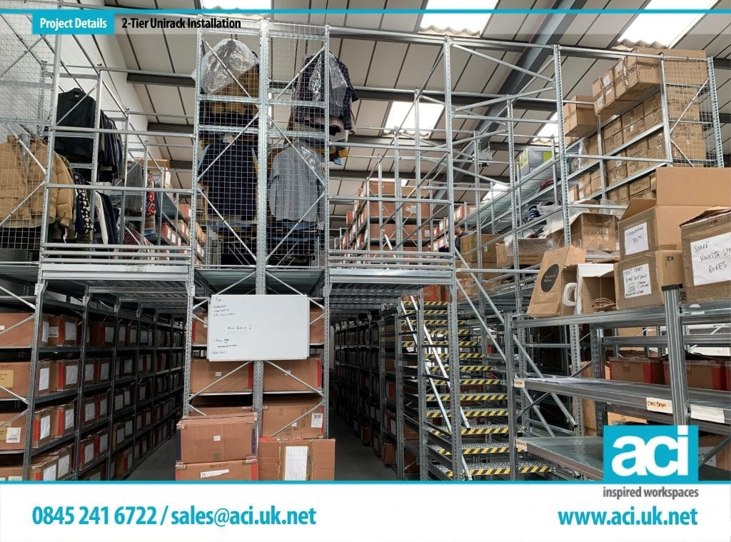 warehouse shelving installation